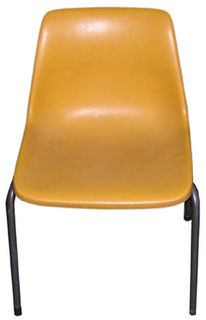 Chair School #003 Plastic Assorted Colours (H75cm  W50cm  D53cm) 10 in stock.