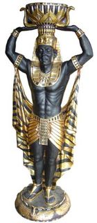 Black/Gold Statue Male Large (H1.9m)