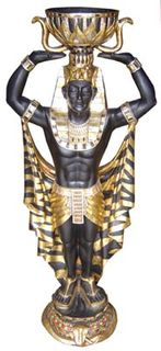 Black/Gold Statue Male Small (H1.35m)