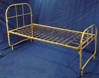 Hospital Bed Base # 3 Single Cream Steel (H120cm  L180cm  W90cm) (bed base L180cm  W90cm) [x2]