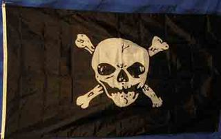 Flag Pirate # 1 (0.9m x 1.5m) Skull w/ Crossbones Print