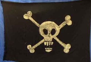 Flag Pirate #5 Handpainted  (H145cm x W210cm)