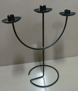 Table Candelabra Candlestick 3pt (0.35m). 10 available.