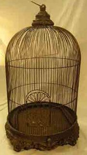 Birdcage #06 Ornate w Base  Large Round (H1.2m x D0.8m)