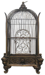 Birdcage #11 Ornate Square Small (H0.75m x W0.4m x D0.4m)