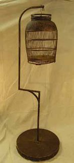 Birdcage #04 Wood Dark w Stand (2 parts) (H1.8m x D0.6m)