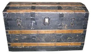 Treasure Chest #02 Black Large (H58cm x D53cm x W93cm)