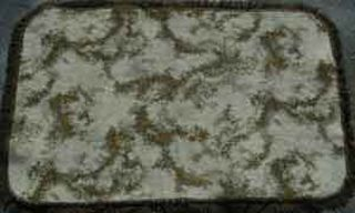 Rug Retro Swirl Cream/Brown/Green (1.05m x 1.5m)