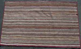 Rug Multi Stripe Pink/Red/Green (0.95m x 1.75m)