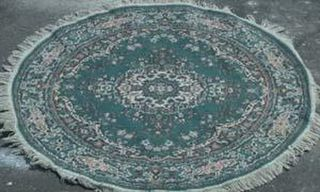Persian Round Green/Pink/Green Design (diameter 1.20m)