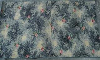 Rug Floral Grey/Pink/Green/Black Design (0.95m x 2.1m)