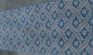 Rug Laurel Weave Runner Blue/Beige (0.9m x 2.8m)
