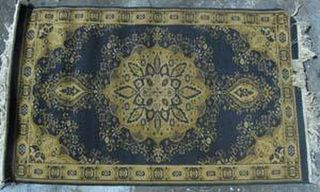 Persian Rug Blue/Yellow/Beige Design (0.7m x 1.35m)
