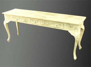 Side Board #008 French Provincal White Washed  (H73cm D48cm W180cm) 2 in stock.