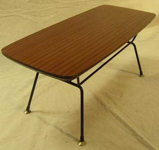 Formica Coffee Table #059 Wood Grain (H38cm W88cm D38cm)