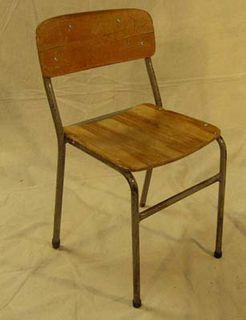 Chair School #002 (H74cm  W43cm  D44cm) 21 in stock.