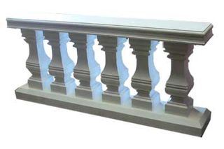 Plinth Balustrade (m) (0.84m x 1.87m x 0.28m) 2 available