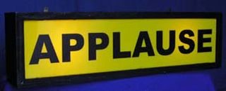 Studio Sign Applause (0.2m x 0.8m x 0.2m)