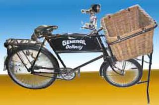 Delivery Bike #2  French w Sign (L180cm x H120cm x W65cm)
