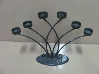 Table Candelabra Tea Candle 6 pt Candelabras (0.3 m x 0.4 m wide)