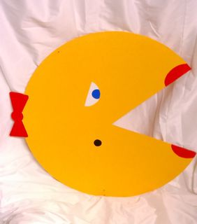 Ms Pacman Wooden On Stand (1.65 Tall x 75cm Diameter)