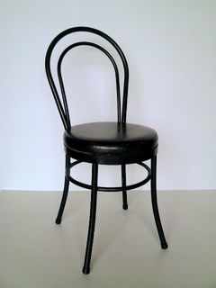 Chair Dining Black Bentwood (24 in stock)