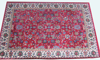 Persian Carpet  Red Cream Green (1.6 x 2.3)