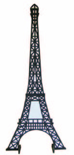 Eiffel Tower Cutout (H 2.2m)