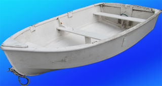 Boat Dinghy #4 Small Rustic White (0.5m x 1.2 m x 2.3m )