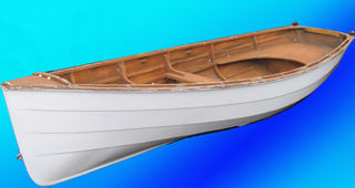 Boat Dinghy #3 White Lacquer Finish (0.5m x 1.3m x 4m)