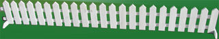 Mini White Picket Fences (2m x 0.3m)