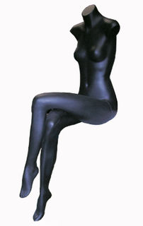 Mannequin #11 Long Leg Black Female [x=2] [0.65m (sitting) x length:1.3m]