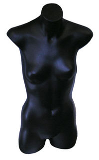 Mannequin #18 Female Black Torso [x=4] (0.76m)