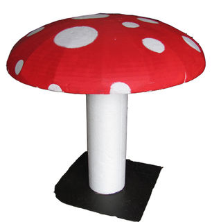 Large Poly Toadstool (D 90cm H 70cm) [x=2]