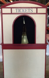 Ticket Booth ( sign can be swapped - Fortunes Booth) (2 parts - 1.2 m wide x 0.6 deep x 2.4 high)