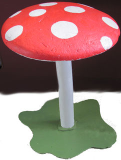 Toadstool Large Wood Stem Poly Top  (1.0m x 0.85m dia) [x=2]