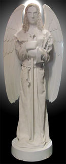 White Angel With Spear (x=2) (H 2.5 m x 1m)