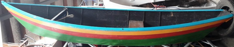Boat Dinghy #2 Blue/Yellow/Red/Green (0.5m x 1.3m x 4m)