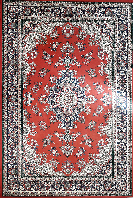 Persian Red/Beige/Blue Design (1.9m x 2.85m)
