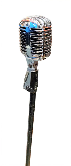 Imitation Microphone On Stand # 5 Metal (Total Stock = 2)
