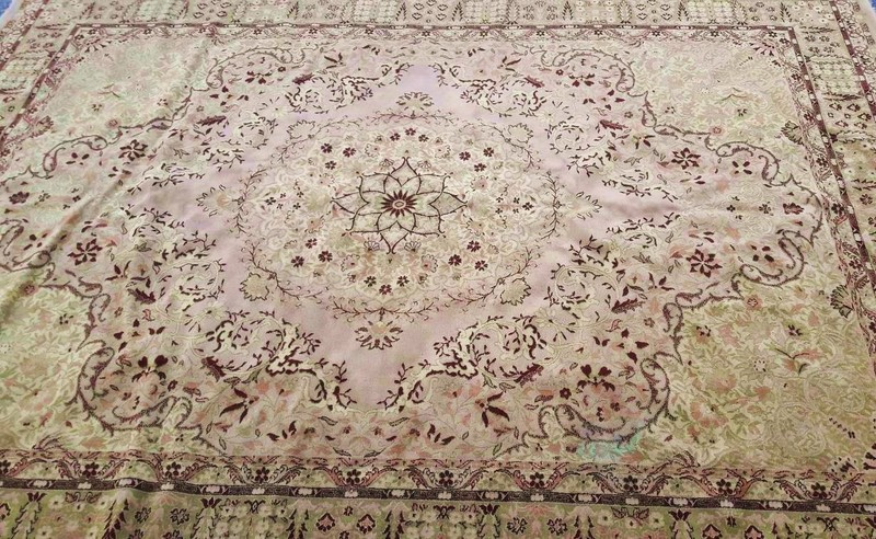 Rug Floral Cream/Pink/Grey/Green Design (2.7m x 3.6m)
