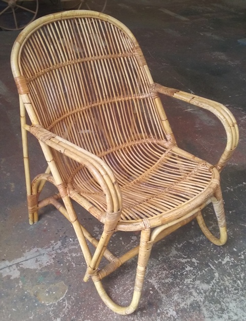 Cane Chair #12  (80 x 60 x 70cm) 2 in stock.