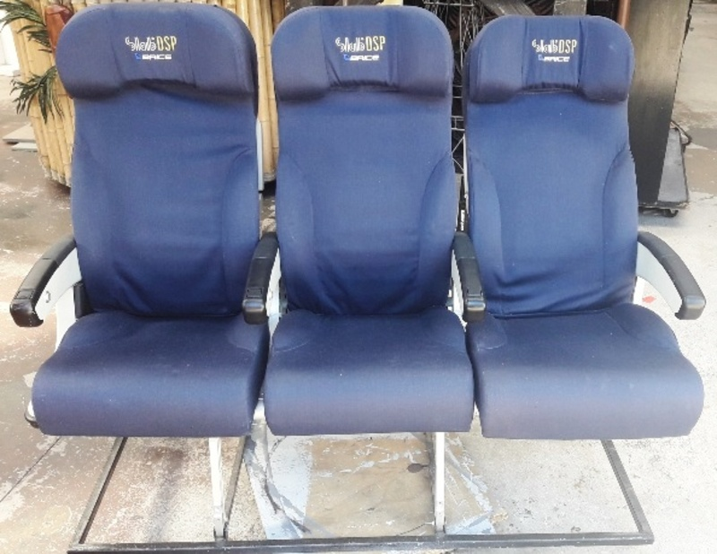 Airline Seats. Row of 3. 120 x 150 x 70cm