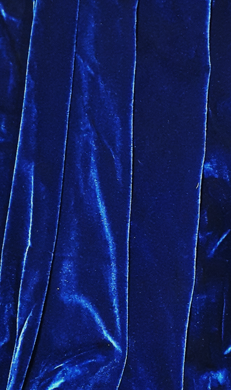 Curtain Blue Velvet  w/ Sleeve (1m wide x 5 m tall) 4 in stock.