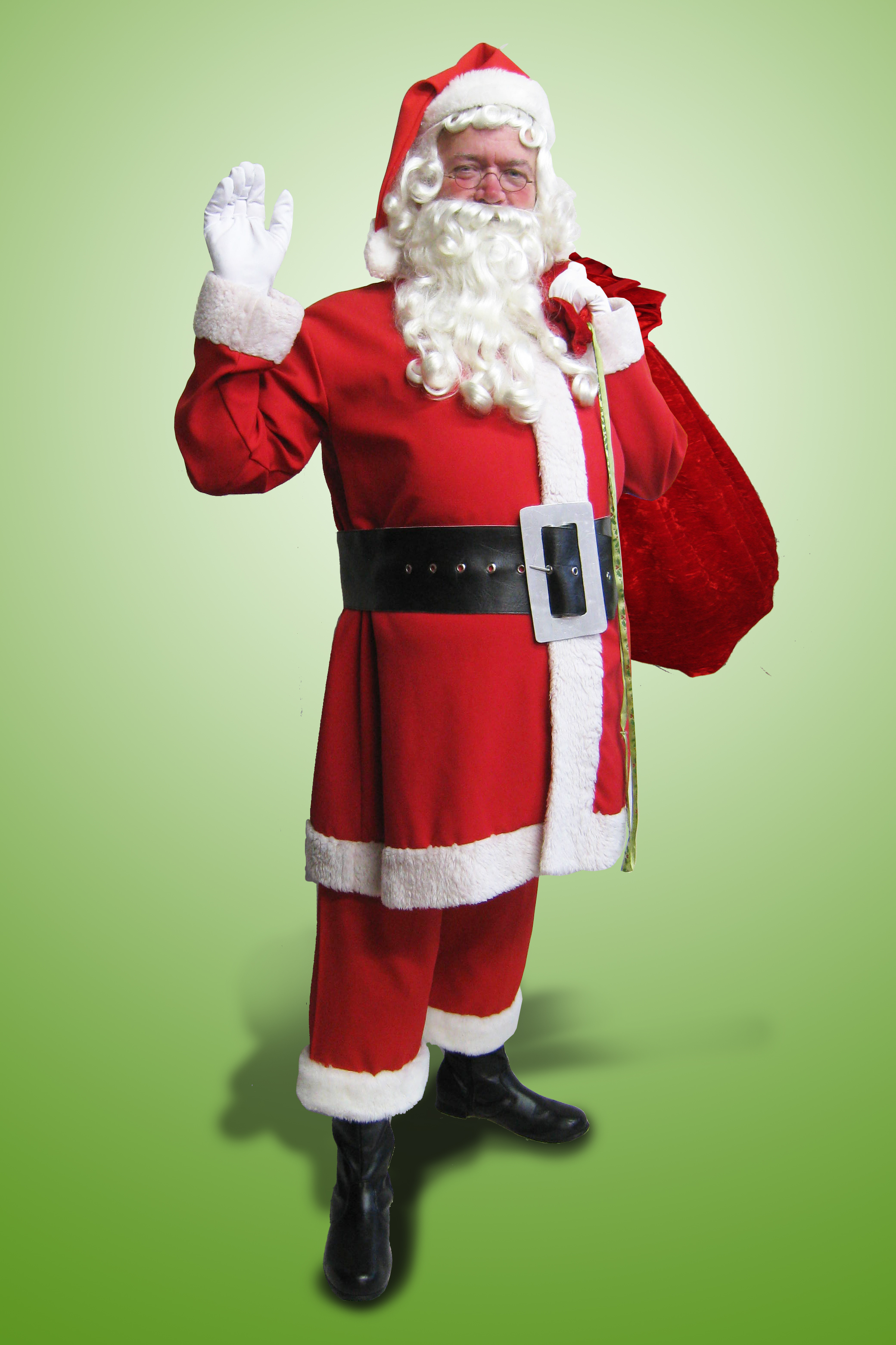 Santa Suit Red Polyester Linen $84 ex GST