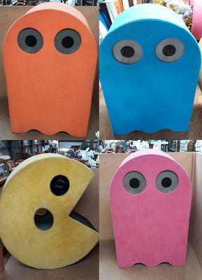 Pacman Characters. Fluffy, Wearable. 1.3m.