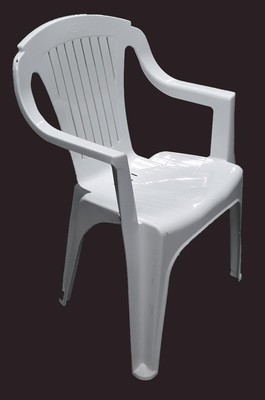 Chair White Resin Low Back 78 x 54 x 42cm