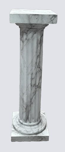 Fluted Plinth (s) marbled (0.9m)