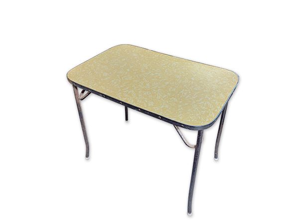 Formica Kitchen Table 019 Yellow (0.8m x 0.9m x 0.6m)