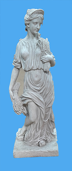 Greek woman statue with wheat 60cm